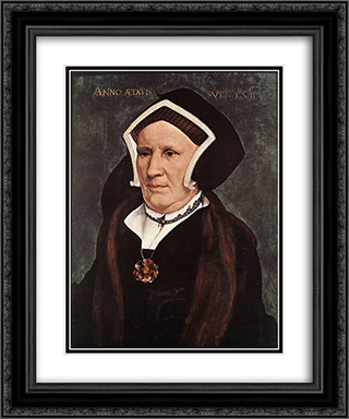 Portrait of Lady Margaret Butts 20x24 Black or Gold Ornate Framed and Double Matted Art Print by Hans Holbein the Younger