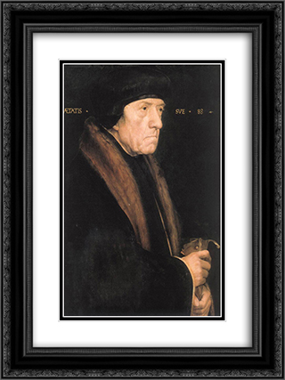 Portrait of John Chambers 18x24 Black or Gold Ornate Framed and Double Matted Art Print by Hans Holbein the Younger