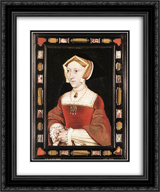 Portrait of Jane Seymour 20x24 Black or Gold Ornate Framed and Double Matted Art Print by Hans Holbein the Younger