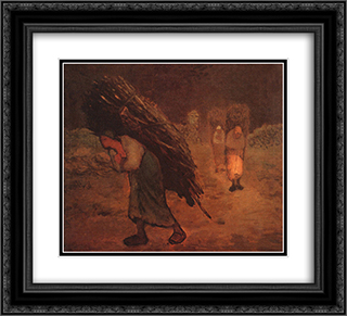 Faggot Carriers 22x20 Black or Gold Ornate Framed and Double Matted Art Print by Jean Francois Millet