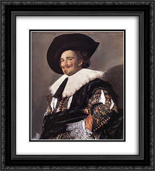 The Laughing Cavalier 20x22 Black or Gold Ornate Framed and Double Matted Art Print by Frans Hals