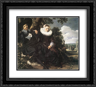 Married Couple in a Garden 22x20 Black or Gold Ornate Framed and Double Matted Art Print by Frans Hals