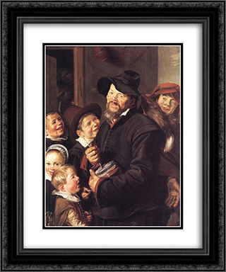The Rommel Pot Player 20x24 Black or Gold Ornate Framed and Double Matted Art Print by Frans Hals