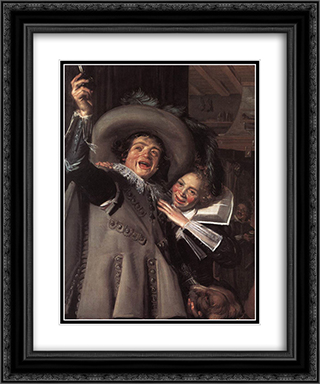 Jonker Ramp and his Sweetheart 20x24 Black or Gold Ornate Framed and Double Matted Art Print by Frans Hals