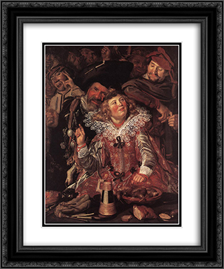 Shrovetide Revellers 20x24 Black or Gold Ornate Framed and Double Matted Art Print by Frans Hals