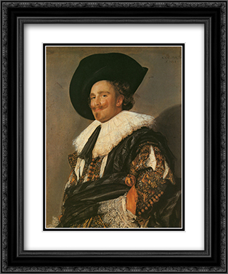 The Laughing Cavalier 20x24 Black or Gold Ornate Framed and Double Matted Art Print by Frans Hals