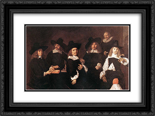 Regents of the Old Men's Alms House 24x18 Black or Gold Ornate Framed and Double Matted Art Print by Frans Hals