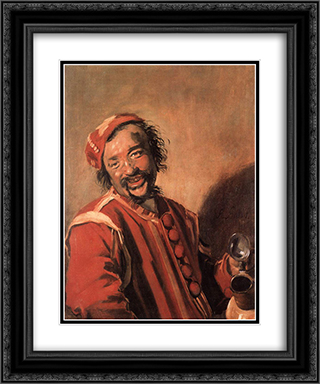 Peeckelhaering 20x24 Black or Gold Ornate Framed and Double Matted Art Print by Frans Hals