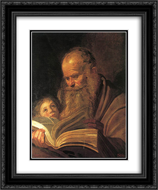St. Matthew 20x24 Black or Gold Ornate Framed and Double Matted Art Print by Frans Hals
