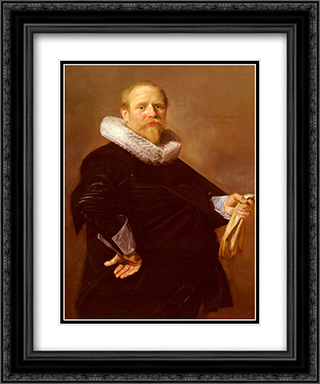 Portrait Of A Man 20x24 Black or Gold Ornate Framed and Double Matted Art Print by Frans Hals