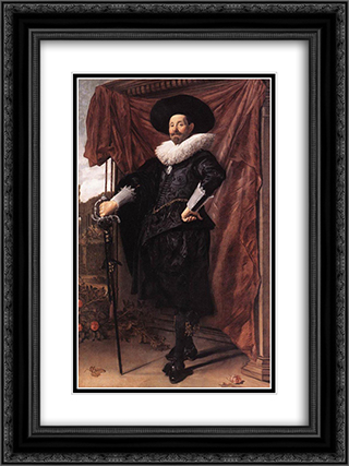 Willem van Heythuyzen 18x24 Black or Gold Ornate Framed and Double Matted Art Print by Frans Hals