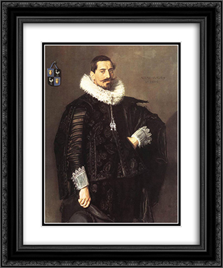 Jacob Pietersz Olycan 20x24 Black or Gold Ornate Framed and Double Matted Art Print by Frans Hals