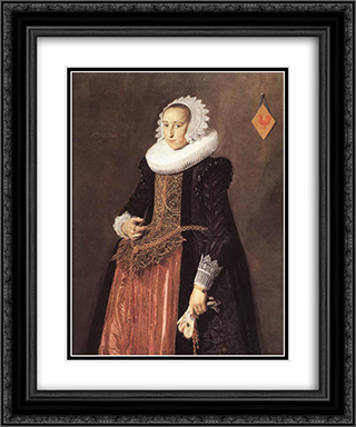 Anetta Hanemans 20x24 Black or Gold Ornate Framed and Double Matted Art Print by Frans Hals