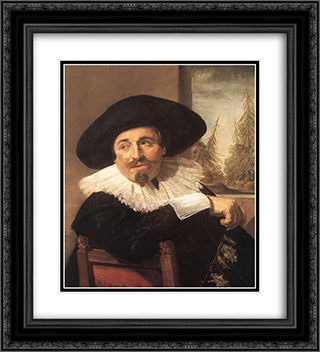 Isaac Abrahamsz Massa 20x22 Black or Gold Ornate Framed and Double Matted Art Print by Frans Hals