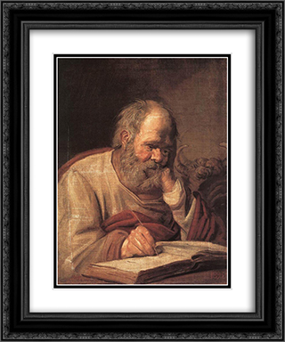 St Luke 20x24 Black or Gold Ornate Framed and Double Matted Art Print by Frans Hals