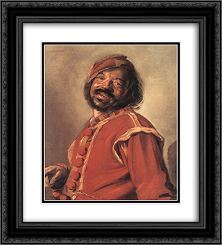 Mulatto (so'called) 20x22 Black or Gold Ornate Framed and Double Matted Art Print by Frans Hals