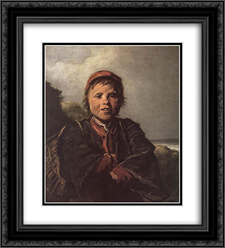 The Fisher Boy 20x22 Black or Gold Ornate Framed and Double Matted Art Print by Frans Hals