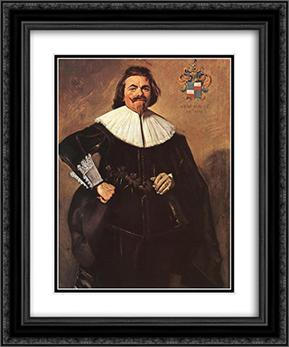 Tieleman Roosterman 20x24 Black or Gold Ornate Framed and Double Matted Art Print by Frans Hals
