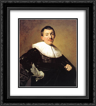 Portrait of a Man 20x22 Black or Gold Ornate Framed and Double Matted Art Print by Frans Hals