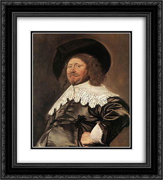 Claes Duyst van Voorhout 20x22 Black or Gold Ornate Framed and Double Matted Art Print by Frans Hals
