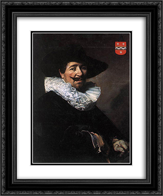 Andries van der Horn 20x24 Black or Gold Ornate Framed and Double Matted Art Print by Frans Hals