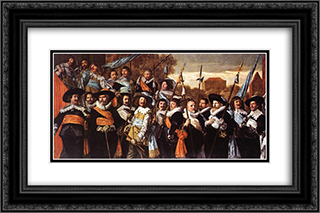 Officers and Sergeants of the St George Civic Guard Company 24x16 Black or Gold Ornate Framed and Double Matted Art Print by Frans Hals
