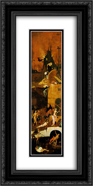 Haywain, right wing of the triptych 12x24 Black or Gold Ornate Framed and Double Matted Art Print by Hieronymus Bosch