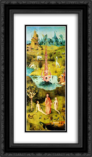 Garden of Earthly Delights [detail] 14x24 Black or Gold Ornate Framed and Double Matted Art Print by Hieronymus Bosch