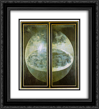 Garden of Earthly Delights, outer wings of the triptych 20x22 Black or Gold Ornate Framed and Double Matted Art Print by Hieronymus Bosch