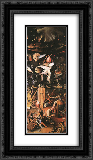 arden of Earthly Delights, right wing 14x24 Black or Gold Ornate Framed and Double Matted Art Print by Hieronymus Bosch