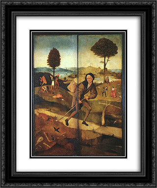 The Path of Life, outer wings of a triptych 20x24 Black or Gold Ornate Framed and Double Matted Art Print by Hieronymus Bosch