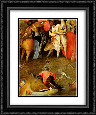 Temptation of St. Anthony, detail of the central panel 20x24 Black or Gold Ornate Framed and Double Matted Art Print by Hieronymus Bosch