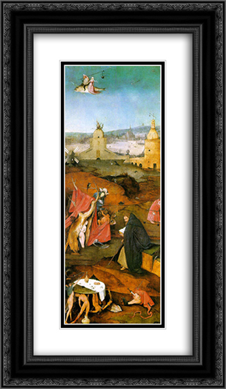 Temptation of St. Anthony, right wing of the triptych 14x24 Black or Gold Ornate Framed and Double Matted Art Print by Hieronymus Bosch