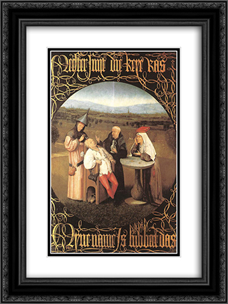 The Cure of Folly 18x24 Black or Gold Ornate Framed and Double Matted Art Print by Hieronymus Bosch