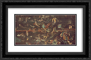 Last Judgement (fragment) 24x16 Black or Gold Ornate Framed and Double Matted Art Print by Hieronymus Bosch