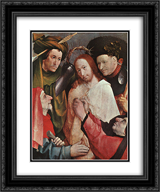 Christ Mocked 20x24 Black or Gold Ornate Framed and Double Matted Art Print by Hieronymus Bosch