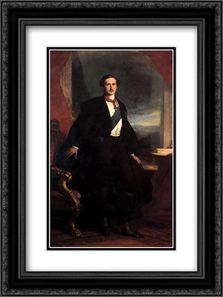 Prince Albert 18x24 Black or Gold Ornate Framed and Double Matted Art Print by Franz Xaver Winterhalter