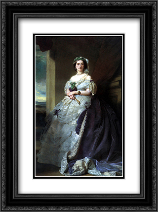 Julia Louise Bosville, Lady Middleton 18x24 Black or Gold Ornate Framed and Double Matted Art Print by Franz Xaver Winterhalter