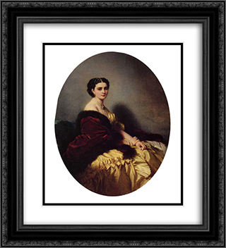 Madame Sofya Petrovna Naryschkina 20x22 Black or Gold Ornate Framed and Double Matted Art Print by Franz Xaver Winterhalter