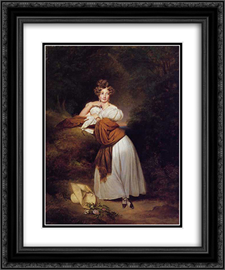 Sophie Guillemette, Grand Duchess of Baden 20x24 Black or Gold Ornate Framed and Double Matted Art Print by Franz Xaver Winterhalter