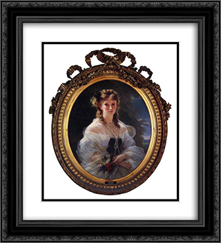 Princess Sophie Troubetskoi, Duchess de Morny 20x22 Black or Gold Ornate Framed and Double Matted Art Print by Franz Xaver Winterhalter
