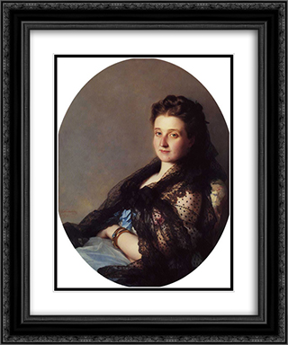 Portrait of a Lady 20x24 Black or Gold Ornate Framed and Double Matted Art Print by Franz Xaver Winterhalter