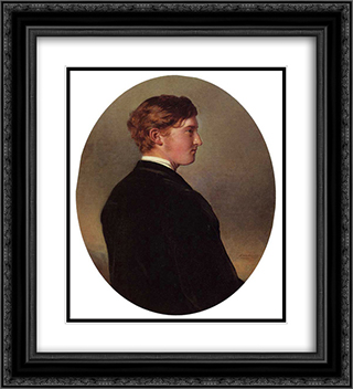 William Douglas Hamilton, 12th Duke of Hamilton 20x22 Black or Gold Ornate Framed and Double Matted Art Print by Franz Xaver Winterhalter