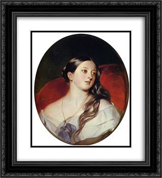 Queen Victoria 20x22 Black or Gold Ornate Framed and Double Matted Art Print by Franz Xaver Winterhalter