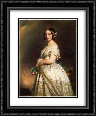 Queen Victoria 20x24 Black or Gold Ornate Framed and Double Matted Art Print by Franz Xaver Winterhalter