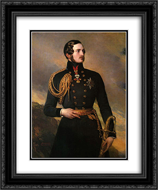 Prince Albert 20x24 Black or Gold Ornate Framed and Double Matted Art Print by Franz Xaver Winterhalter