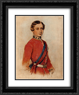 Albert Edward, Prince of Wales 20x24 Black or Gold Ornate Framed and Double Matted Art Print by Franz Xaver Winterhalter