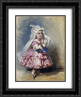 Princess Beatrice 20x24 Black or Gold Ornate Framed and Double Matted Art Print by Franz Xaver Winterhalter