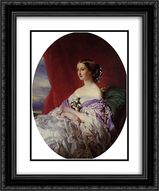The Empress Eugenie 20x24 Black or Gold Ornate Framed and Double Matted Art Print by Franz Xaver Winterhalter