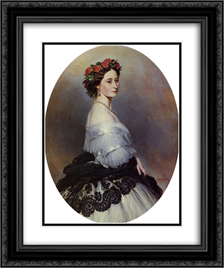 Princess Alice 20x24 Black or Gold Ornate Framed and Double Matted Art Print by Franz Xaver Winterhalter